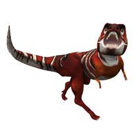 free simple tyrannosaurus 3d model