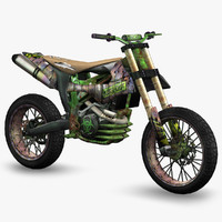 3d ready apocalyptic dirt bike