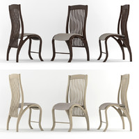 3d model bentwood classic chair wood