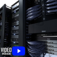3d data server network rack