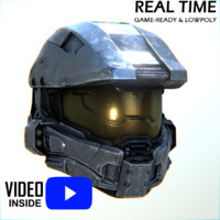 3d master chief helmet