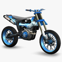 ready dirt bike 3d model