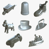 3d monopoly pieces