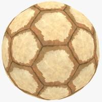 3d model old soccer ball