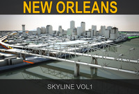3ds max new orleans skyline vol1