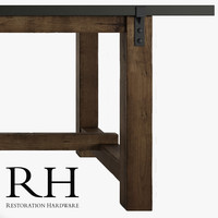 3d model of old table reclaimed