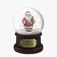 max snow globe santa