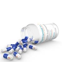3d bottle capsules model