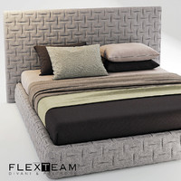 3d model bed blanket pillows
