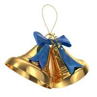 3d christmas bells model