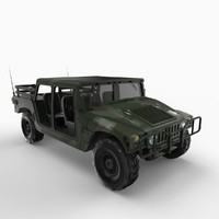 hmmwv open cab 3d model