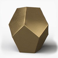 maya gold hexagonal ceramic
