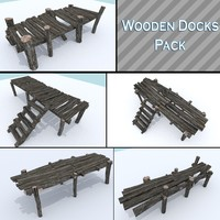 3d model of pack wooden dock