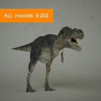 3d dinosaur t-rex t model