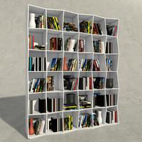 3d boconcept bookcase books