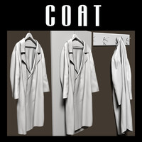 Coat on hanger and coat rack
