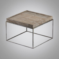 small tray coffee table 3d model