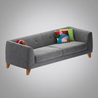 jarle sofa 3 3d model