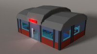3ds style american diner -