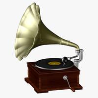 blender old gramophone vinyl