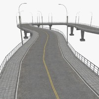 road highways sample scene 3d 3ds
