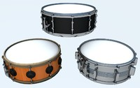 snare drums set c4d