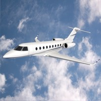 3ds gulfstream private jet