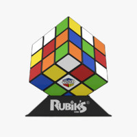 3dsmax scrambled rubik s cube
