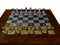 marble chessboard 3d max