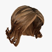 3d model female hairstyle