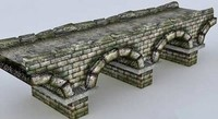 obj stone bridge