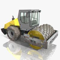 3d model of bomag road roller