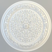 3ds max ethnical ornament rosette