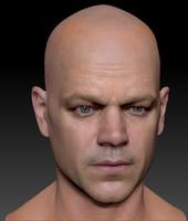 The 3d model Matt Damon head