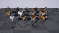 3d model of deer modular pack