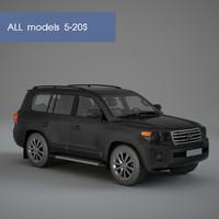 3d model toyota landcruiser
