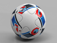 euro 2016 ball 3d model