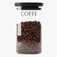 jar coffee 3d model