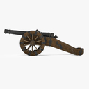 field cannon 3D models