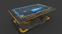 sci fi hologram table obj
