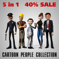 cartoon people woman 3d model