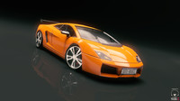 race car 3d obj