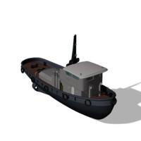 tug boat 3d obj