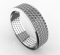 BAND RING WITH DIAMONDS PAV