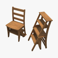 Library Chair&Stool