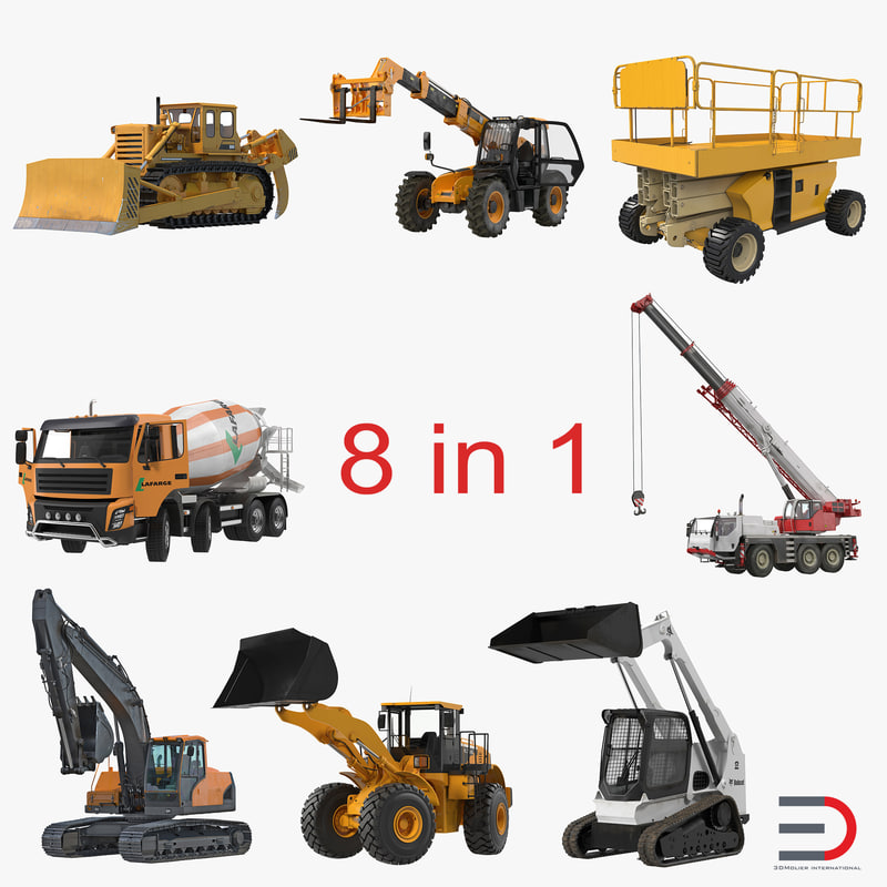 Collection 3d models of Construction Vehicles Rigged 001.jpg