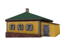 3d model tavern house