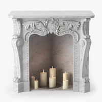 3dsmax fireplace baroque