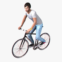 3ds max bicyclist realtime rigged
