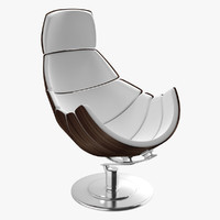 3d model modern chair armadillo